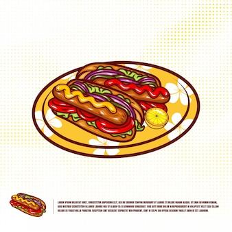 Hotdog illustratie