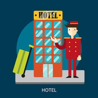 Hotel achtergrond ontwerp