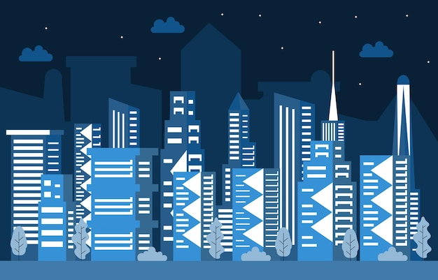 Hotel appartement kantoor zakelijk stad gebouw stadsgezicht skyline illustratie