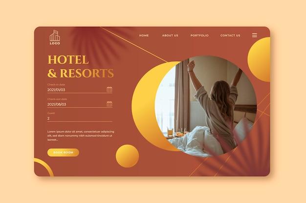 Hotel-bestemmingspagina met foto