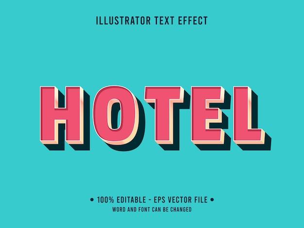 Hotel bewerkbare teksteffect moderne stijl met perzikkleur