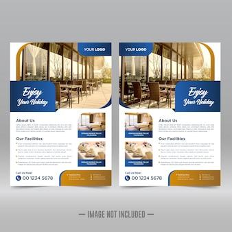 Hotel resort flyer ontwerpsjabloon