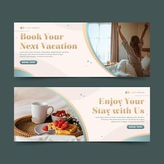 Hotel sjabloon voor spandoek met foto