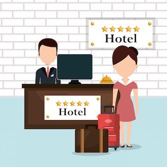 Hotelarbeiders avatars karakters