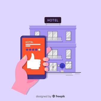 Hotelbeoordeling concept