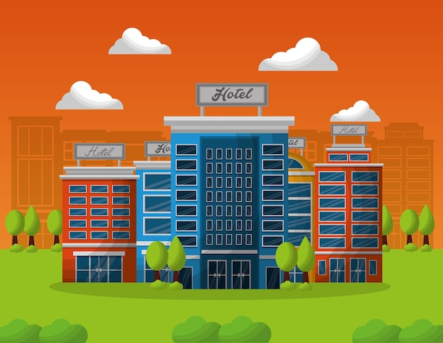 Hotelbouwservice in een natuurlijk landschap