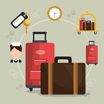 Hoteldiensten ingesteld pictogram