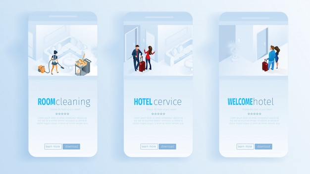 Hoteldiensten room cleaning welkom social media