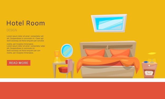 Hotelkamerreservering, appartementreservering web tempate. presentatie website.