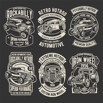 Hotrod-badges-pakket