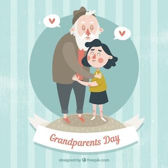 Hou van betwen opa en kleindochter