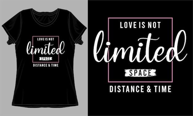 Hou van citaat typografie t-shirt design
