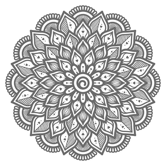 Hou van concept hand getrokken mandala illustratie voor abstract en decoratief concept