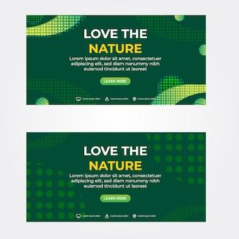 Hou van de natuur bannersjabloon promotiebanner