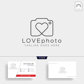 Hou van fotografie logo vector pictogram geïsoleerd