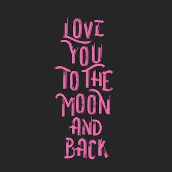 Hou van je tot de maan en terug