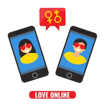 Hou van online concept. online dating, datingsite