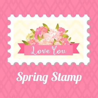 Hou van postzegel.