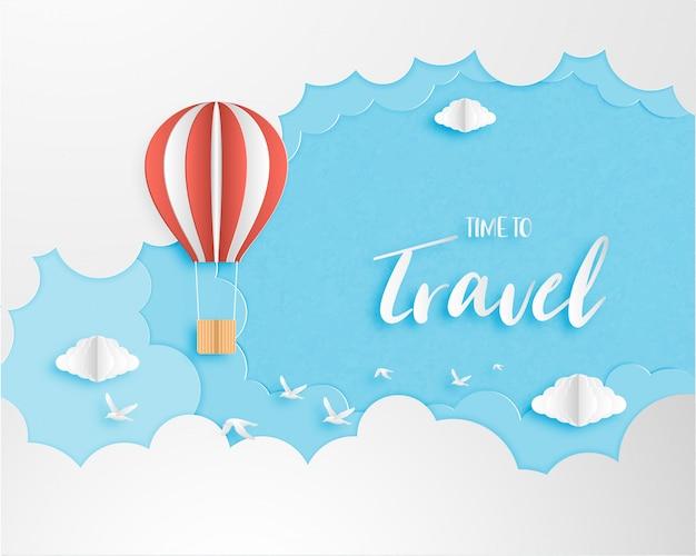 Hou van reizen banner, poster, uitnodigingskaart concept.