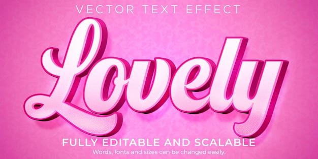 Hou van roze teksteffect, bewerkbare lichte en zachte tekststijl