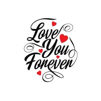 Hou voor altijd van je