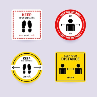 Houd afstand - teken collectie