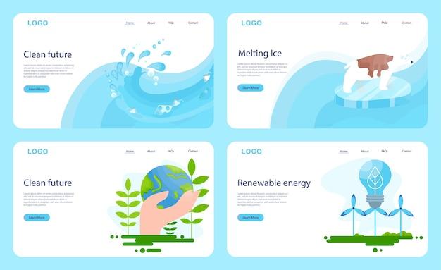 Houd het idee van de aarde schoon. recyclen en schoonmaken.