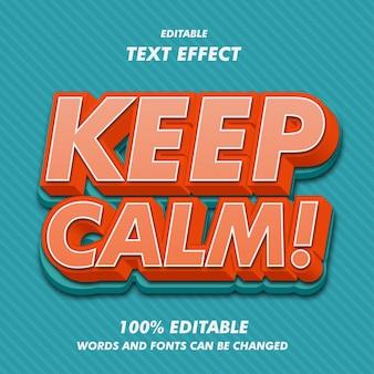 Houd kalme teksteffecten