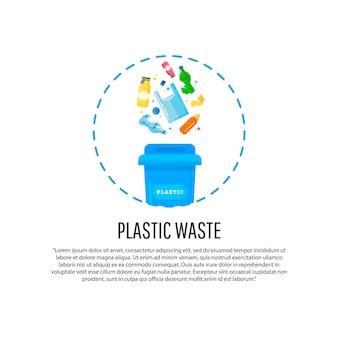 Houd schoon en sorteer afvalconcept