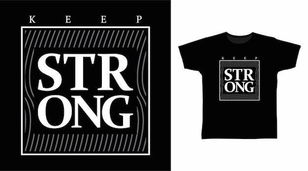 Houd sterke typografie voor t-shirtontwerpen