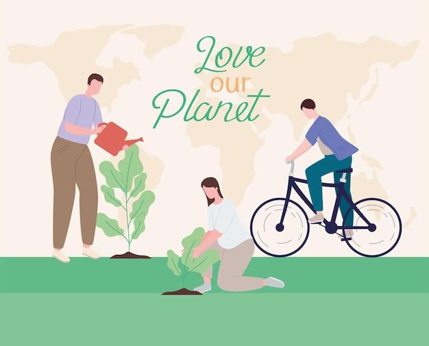 Houd van onze planeetbanner