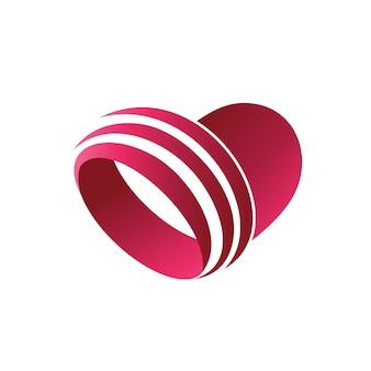 Houdt van abstracte logo-vector