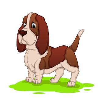 Hound dog cartoon mascotte