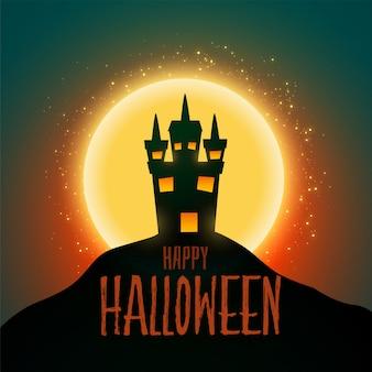 Hounter-huis voor gelukkig halloween-festival