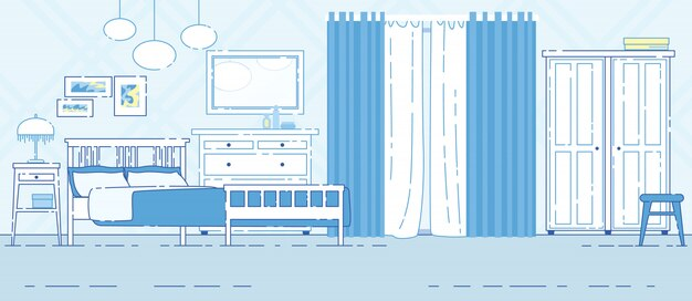 House bedroom classic interior banner