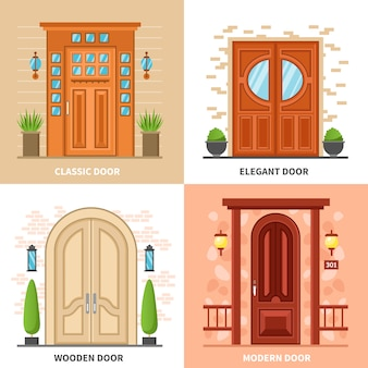 House doors 2x2 design concept