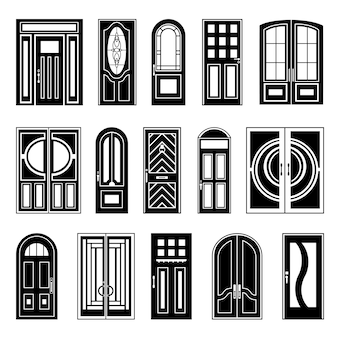 House doors black design collection