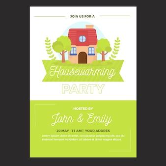Housewarming feest uitnodiging sjabloon