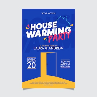 Housewarming party uitnodiging ontwerp