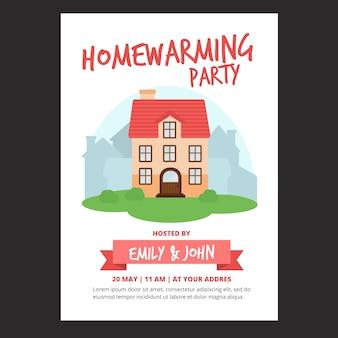 Housewarming party uitnodiging sjabloon thema