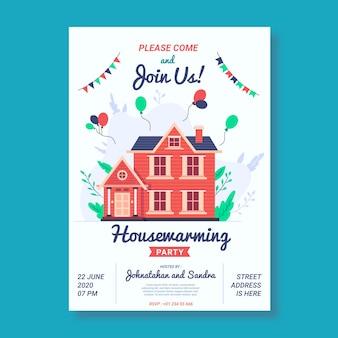 Housewarming uitnodiging sjabloon