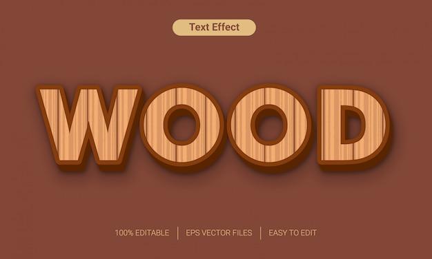 Hout 3d-tekst stijl effect