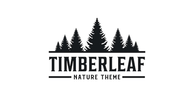 Hout blad grenen natuur silhouet vintage retro logo