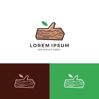 Hout timmerhout hout boom logo