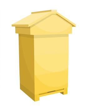Houten bijenkorf