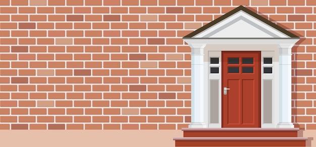Houten deur van huis vooraanzicht