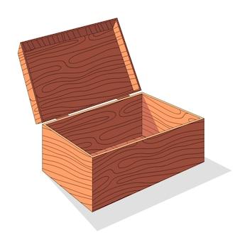 Houten doos illustratie