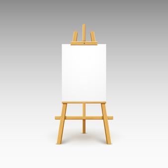 Houten ezel canvas bord op grijs