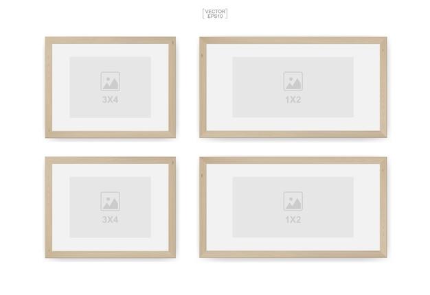 Houten fotolijst of fotolijst voor interieur en decoratie