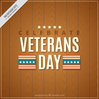 Houten gestructureerde achtergrond voor veteranen dag